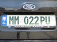 Military plate<br>MM = Ministria e Mbrojtjes (Ministry of Defence)<br>PU = Policia Ushtarake (Military Police)<br>(detailed view of the previous picture)