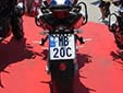 Police motorcycle plate<br>MB = Ministria e Brendshme (Ministry of Interior)