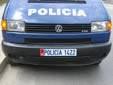 Police vehicle's plate (old style)