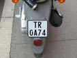 Moped plate (old style). TR = Tiranë