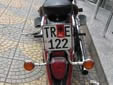Motorcycle plate (old style). TR = Tiranë