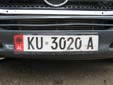 Normal plate (old style). KU = Kukës