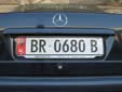 Normal plate (old style). BR = Berat