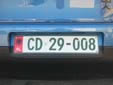Diplomatic plate (old style)<br>CD = Corps Diplomatique / Diplomatic Corps