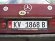 Normal plate (old style). KV = Kuçovë