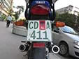 Diplomatic motorcycle plate (old style)<br>CD = Corps Diplomatique / Diplomatic Corps