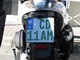 Diplomatic motorcycle plate. CD = Corps Diplomatique / Diplomatic Corps
