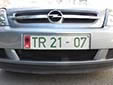 Diplomatic plate (old style). TR = non-diplomatic embassy staff
