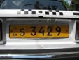 Taxi plate (old style, S ####)