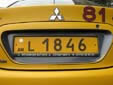 Taxi plate (L ####)