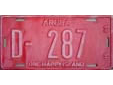 Official vehicle's plate. D = official vehicle