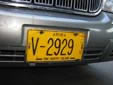 Rental vehicle's plate. V = rental vehicle