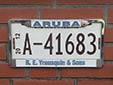 Normal plate. A = private vehicle