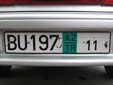 Transit plate (TR). 11 = valid in 2011