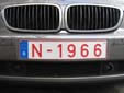 Normal plate (front, old style) with the old numbering scheme N.1966