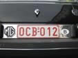 Old-timer plate (old style). O = old-timer