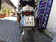 Motorcycle plate. CA = Sofia