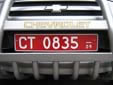 Diplomatic plate (old style), valid until the end of 2009<br>CT = technical staff. 08 = France