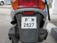 Moped plate. P = Ruse