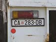 Normal plate from the Croatian Republic of Herzeg-Bosnia. ČA = Čapljina<br>These plates existed for a short period in the 1990's.<br>(detailed view of the previous picture)