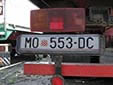 Normal plate from the Croatian Republic of Herzeg-Bosnia. MO = Mostar<br>These plates existed for a short period in the 1990's.