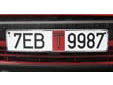 Temporary plate. 7 =  Minsk (city). T = Temporary<br>Submitted by Markus Mraz from Austria