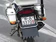 Police motorcycle plate. 京 = Beijing. 警 = Police
