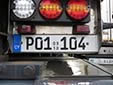 Trailer plate. P = trailer. 09 10 = first registered in September 2010