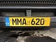 Truck plate. 12 01 = first registered in December 2001