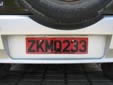 Rental car plate (old style). Z = rental vehicle
