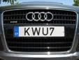 Normal plate (front, old style). Note that KWU7 is used and not KWU007