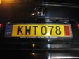 Temporary plate (rear)