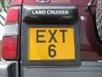 Normal plate (rear, old style). Note that EXT6 is used and not EXT006