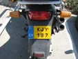 Motorcycle plate (old style)