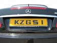Normal plate (rear, old style). Note that KZG51 is used and not KZG051