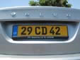 Diplomatic plate (rear). CD = Corps Diplomatique / Diplomatic Corps