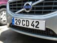 Diplomatic plate (front). CD = Corps Diplomatique / Diplomatic Corps