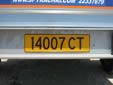 Trailer plate (old style). CT = trailer