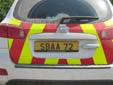 SBA Police vehicle's plate (rear)<br>SBA = Sovereign Base Areas