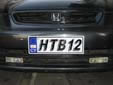 Normal plate (front, old style). Note that HTB12 is used and not HTB012