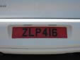 Rental car plate. Z = rental vehicle