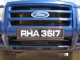 Police vehicle's plate. RHA = governmental vehicle