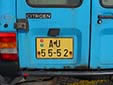 Commercial vehicle's plate (old style). A = Praha (Prague)