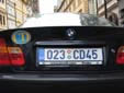 Diplomatic plate. CD = Corps Diplomatique / Diplomatic Corps