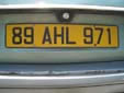 Normal plate (rear, old style). 971 = Guadeloupe<br>Submitted by Harald Schapperer from Germany