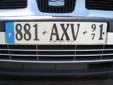 Normal plate (front, old style). 971 = Guadeloupe<br>Submitted by Harald Schapperer from Germany