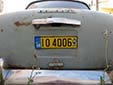 Old-timer plate. IO = Ιστορική Όχημα (historical vehicle)<br>ΕΛΠΑ (in the logo on the right) = Ελληνική Λέσχη Αυτοκινήτου<br>& Περιηγήσεων (Greek Automobile and Touring Club)