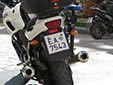 Police motorcycle plate. E.A. = Ελληνική Αστυνομία (Hellenic Police)