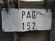 Agricultural vehicle's plate from the island of Pag<br>Submitted by Ralf Hegewald from Germany
