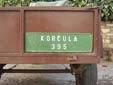 Agricultural vehicle's plate from the island of Korčula